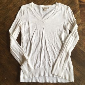 White BR Spring Sweater